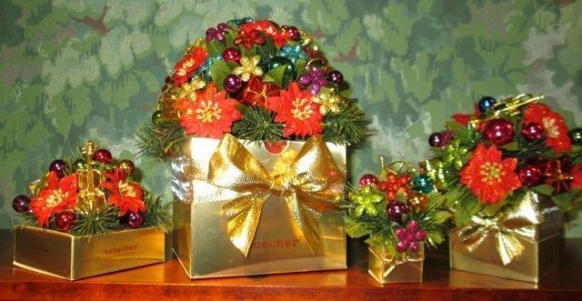Christmas Bouquet Box - 4 pc